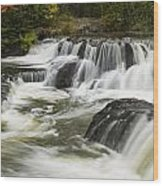Bond Falls Upper 4 Wood Print