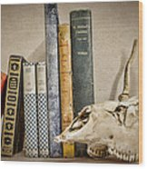 Bone Collector Library Wood Print by Heather Applegate
