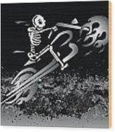 Bone Ride Wood Print