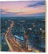 Bonn Skyline Wood Print