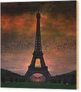 Bonsoir Paris Wood Print