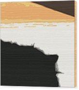 Boo Sillhouette Wood Print