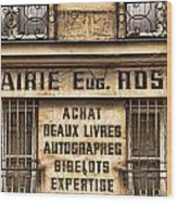 Book Seller Provence Wood Print