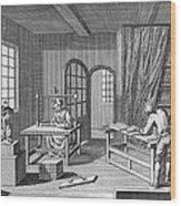 Bookbinder, 1763 Wood Print