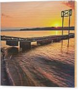 Booker T Dock 3 Wood Print