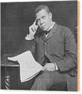 Booker T. Washington 1856-1915, African Wood Print