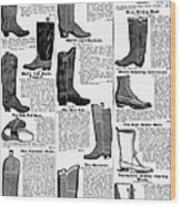 Boots Advertisement, 1895 Wood Print