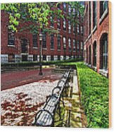 Boott Mill Courtyard Wood Print