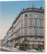 Bordeaux - France - Rue Chapeau Rouge From The Palace Richelieu Wood Print by International  Images