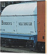 Bordens Milk Tank Car Wood Print