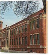 Border Star Elementary School Kansas City Missouri Wood Print