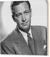 Born Yesterday, William Holden, 1950 Wood Print by Everett