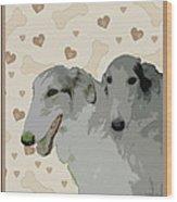 Borzoi Wood Print
