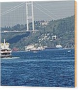 Bosphorus Traffic Wood Print