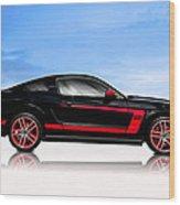 Boss Mustang Wood Print