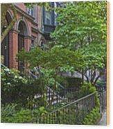Boston Beacon Hill Street Scenery Wood Print