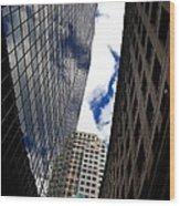 Boston Blue Sky And Stone Wood Print