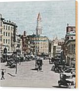 Boston: Bowdoin Square Wood Print