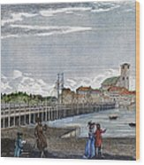 Boston: Charles River, 1789 Wood Print