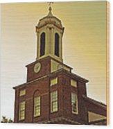 Boston Church Wood Print