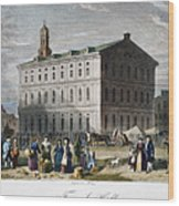 Boston: Faneuil Hall, 1776 Wood Print