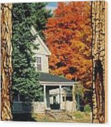 Boston Home Fall 1982 Wood Print