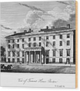 Boston: Hotel, C1835 Wood Print