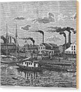 Boston: Iron Foundry, 1876 Wood Print
