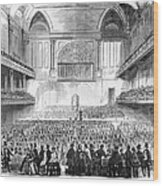 Boston: Music Hall, 1856 Wood Print