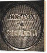 Boston Sewer Wood Print