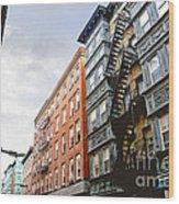 Boston Street Wood Print by Elena Elisseeva