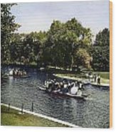 Boston: Swan Boats, C1900 Wood Print