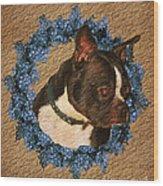 Boston Terrier Love Wood Print