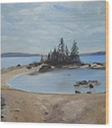 Boswell's Point-lake Superior Wood Print