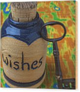 Bottle Of Wishes Wood Print