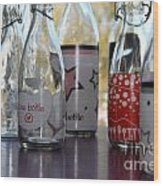 Bottles Wood Print by Tanja Hymel