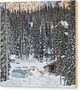 Bottom Of Ski Slope Wood Print by Lisa  Spencer
