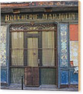 Boucherie Marjolin Wood Print