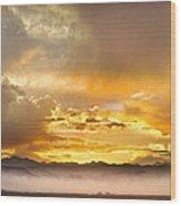 Boulder Colorado Flagstaff Fire Sunset View Wood Print