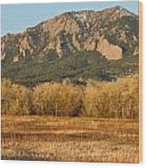 Boulder Colorado Flatiron View From Jay Rd Wood Print
