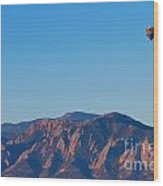 Boulder Colorado Flatirons Hot Air Balloon View Wood Print