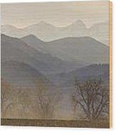 Boulder County Colorado Layers Panorama Wood Print