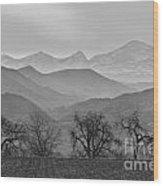 Boulder County Layers Bw Wood Print