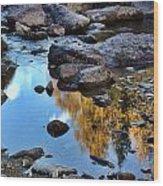 Boulder Creek Wood Print