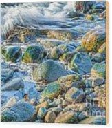 Boulder Splash Wood Print