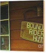 Boundary Riders' Hut Wood Print