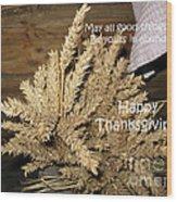 Bounty. Thanksgiving Greeting Card Wood Print