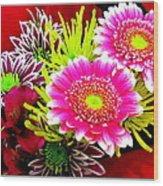 Bouquet De La  Passion Wood Print