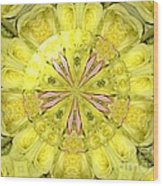 Bouquet Of Roses Kaleidoscope 12 Wood Print
