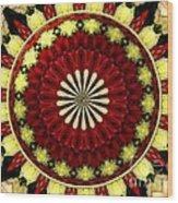 Bouquet Of Roses Kaleidoscope 5 Wood Print